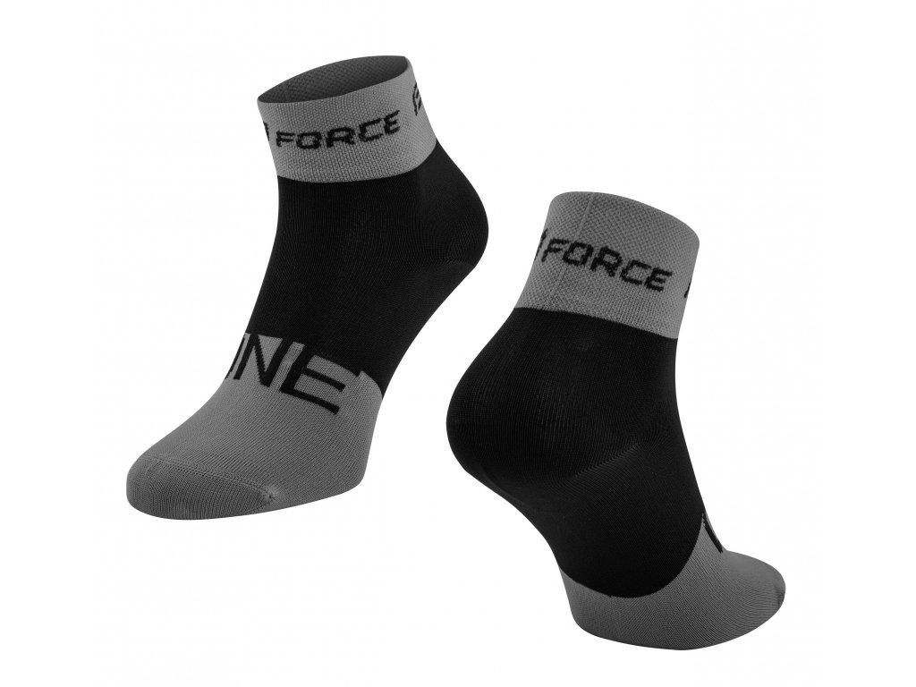 ponožky FORCE ONE, šedo černé