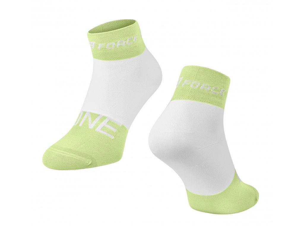 ponožky FORCE ONE, zeleno bílé