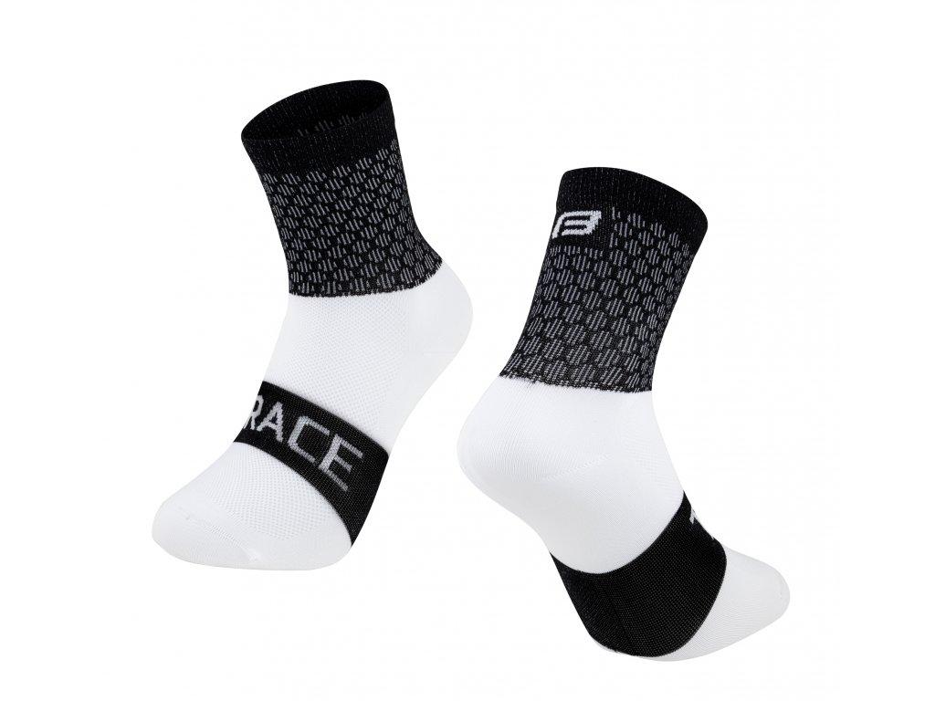 ponožky FORCE TRACE, černo bílé