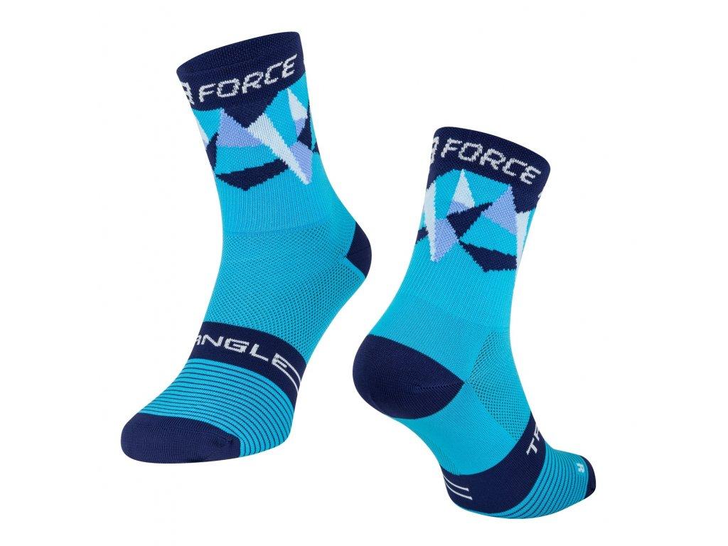 cyklistické ponožky Force TRIANGLE, modré