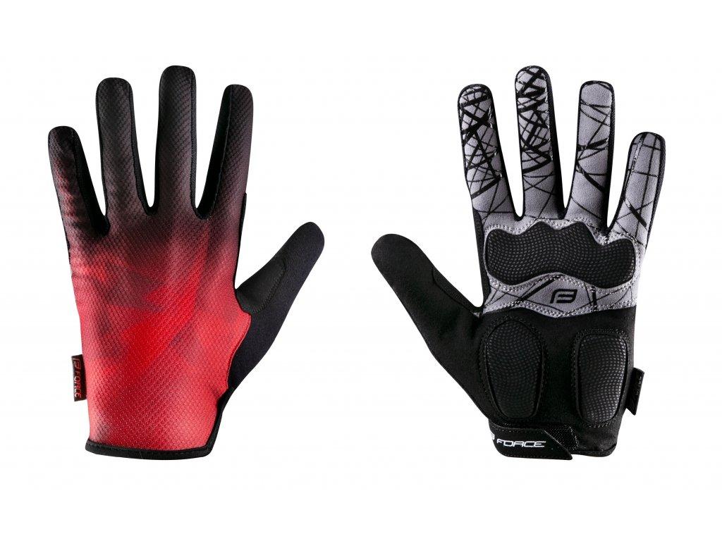 rukavice FORCE MTB CORE letní, červené