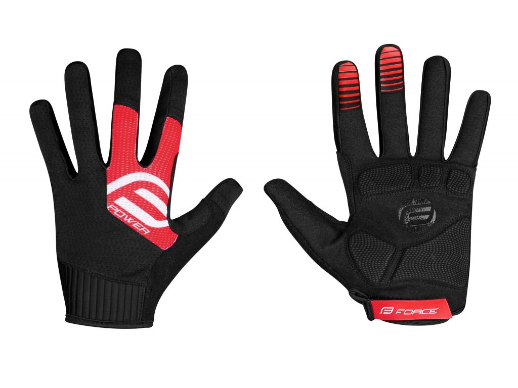 rukavice FORCE MTB POWER, černo červené