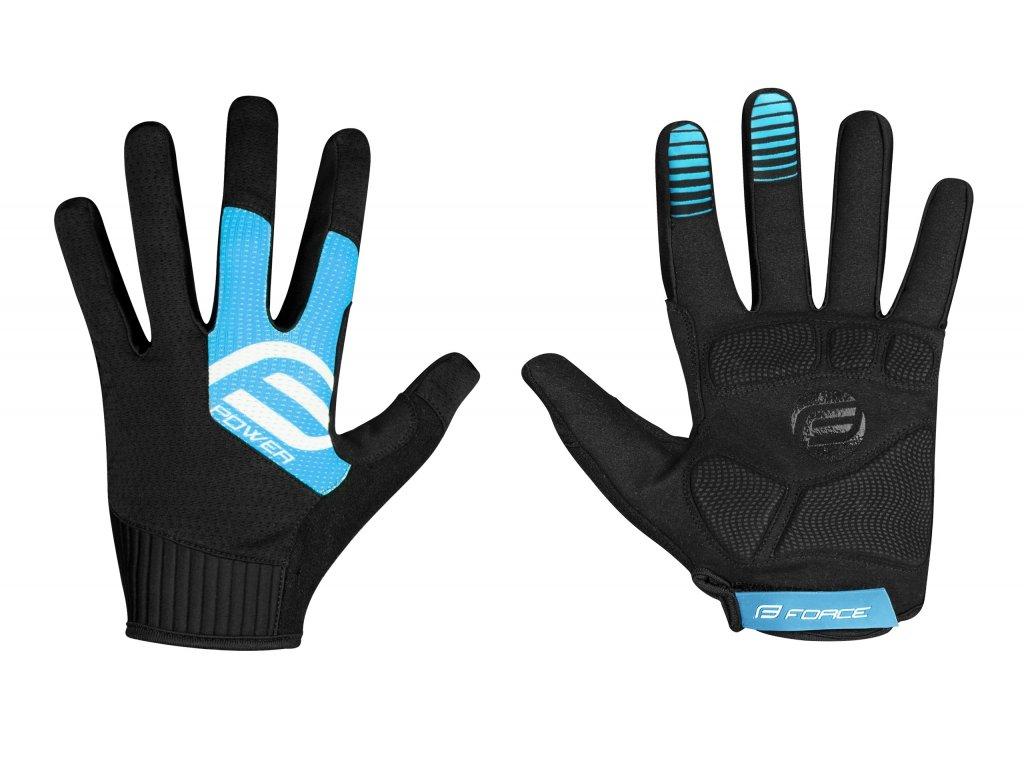 rukavice FORCE MTB POWER, černo modré