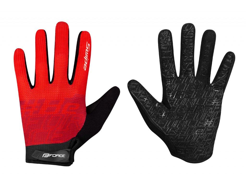 rukavice FORCE MTB SWIPE letní,červené