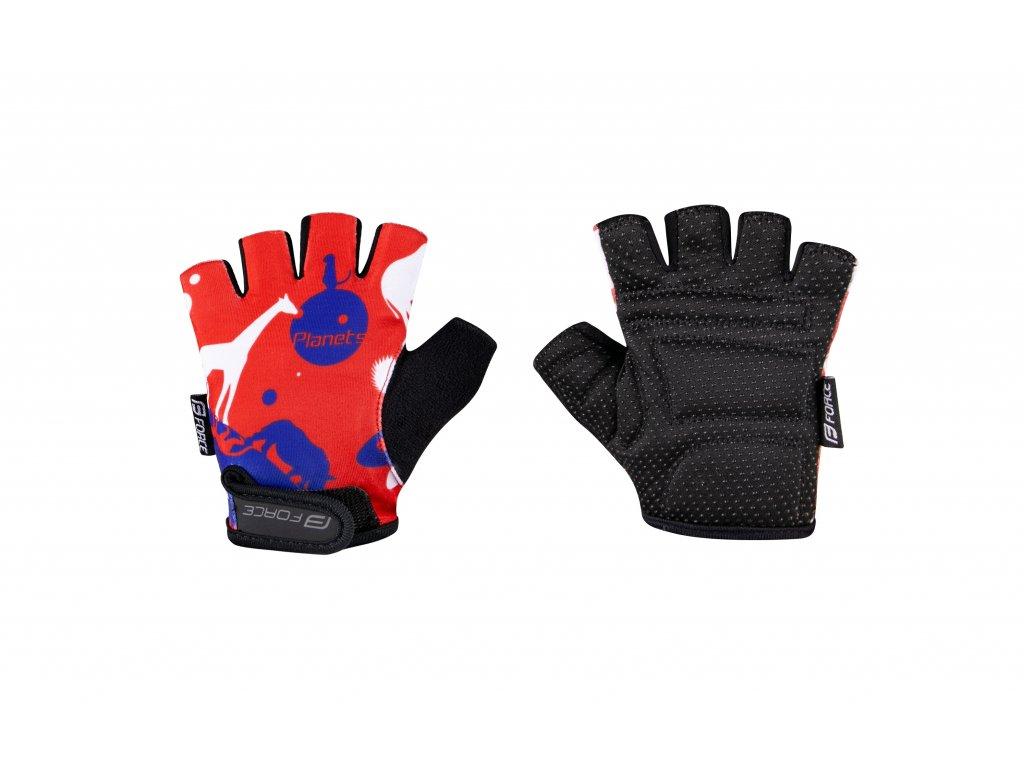 rukavice F PLANETS dětské, červeno modré