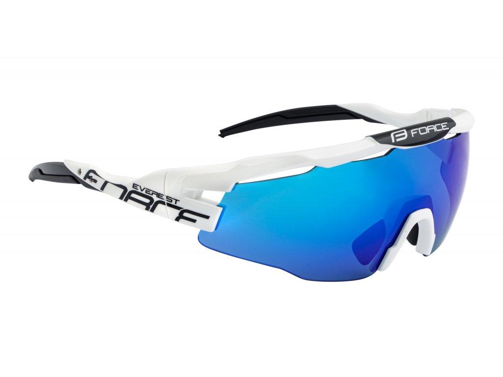 brýle FORCE EVEREST, bílo černé, modrá zrc. skla