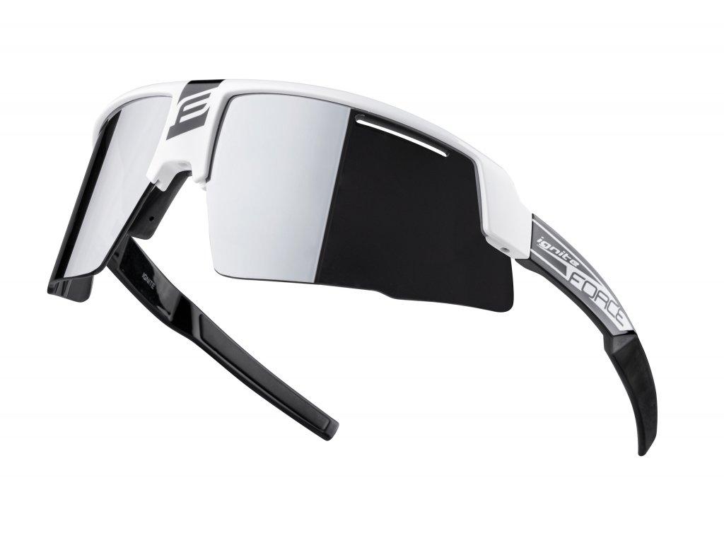 brýle FORCE IGNITE, bílo černé, černá skla