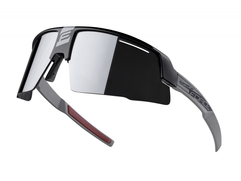 brýle FORCE IGNITE, černo šedé, černá skla