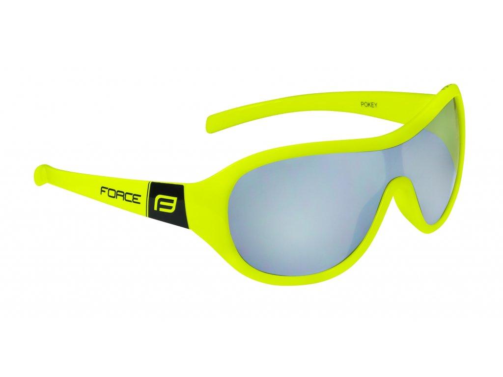 brýle FORCE POKEY dětské, fluo černé, černá skla