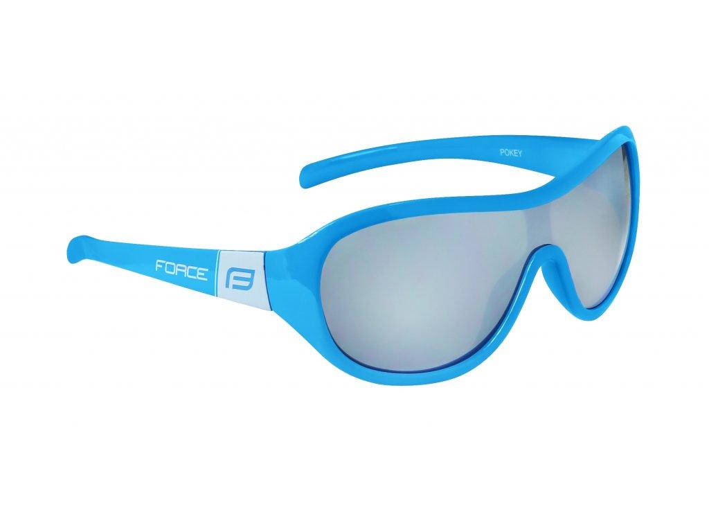 brýle FORCE POKEY dětské, modro bílé, černá skla