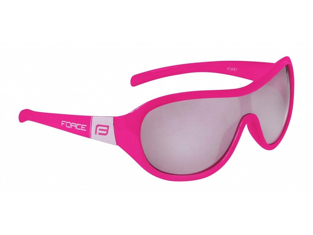 brýle FORCE POKEY dětské, růžovo bílé, černá skla