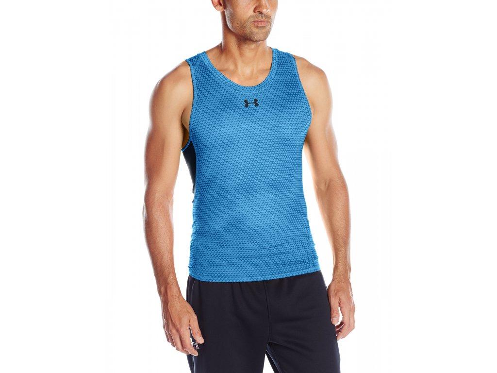 pánské tílko Under Armour HeatGear Compression Vest blue