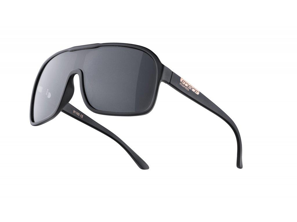 brýle FORCE MONDO černé mat., černá skla