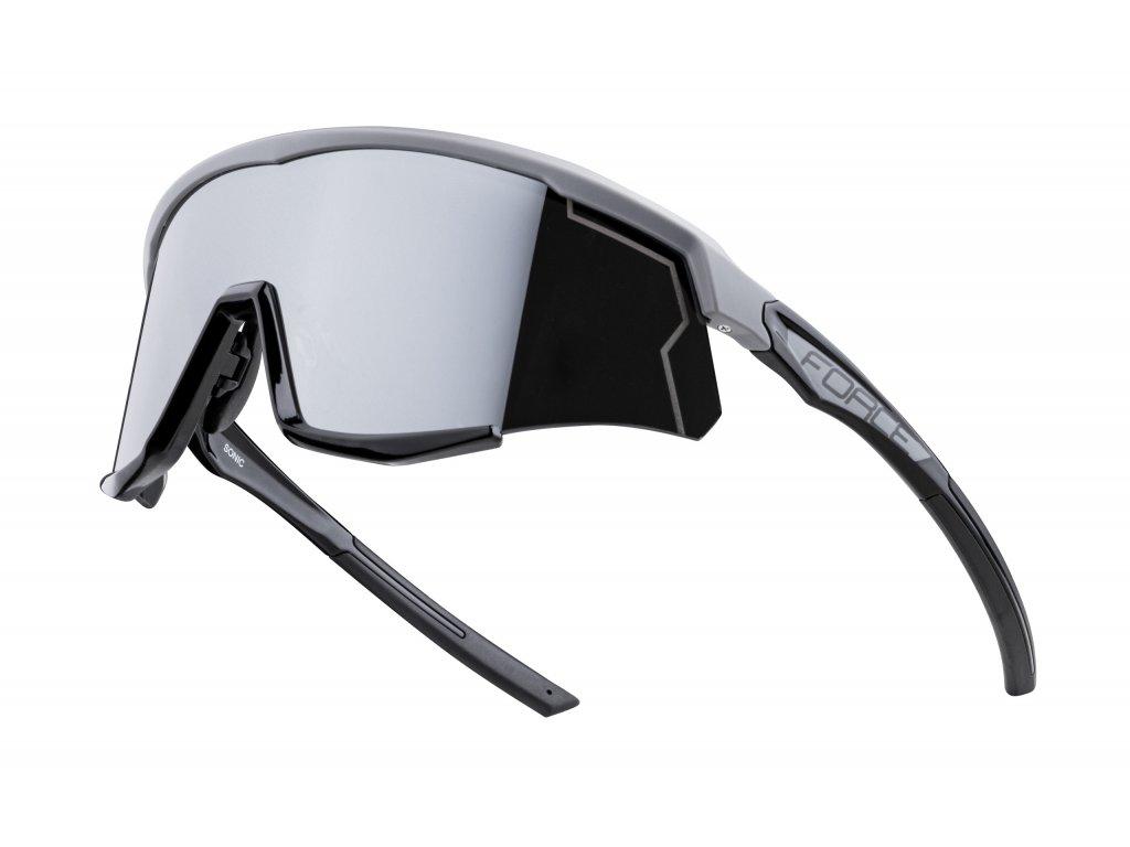 brýle FORCE SONIC šedo černé, černá zrc. skla