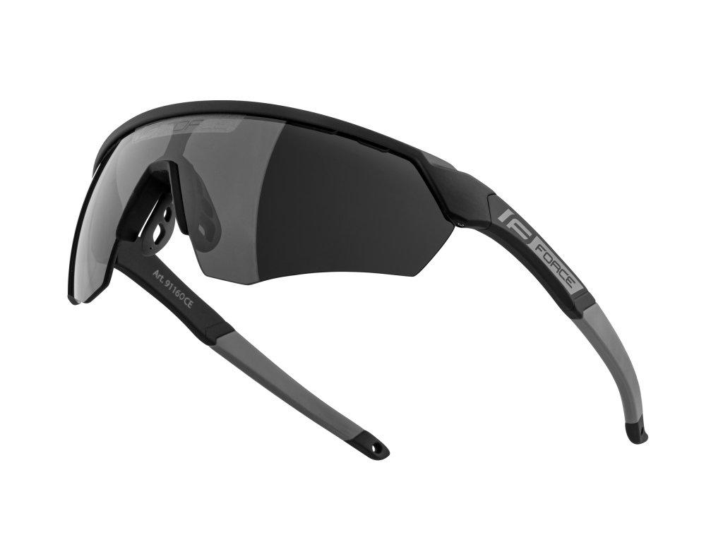 brýle FORCE ENIGMA černo šedé mat., černá skla