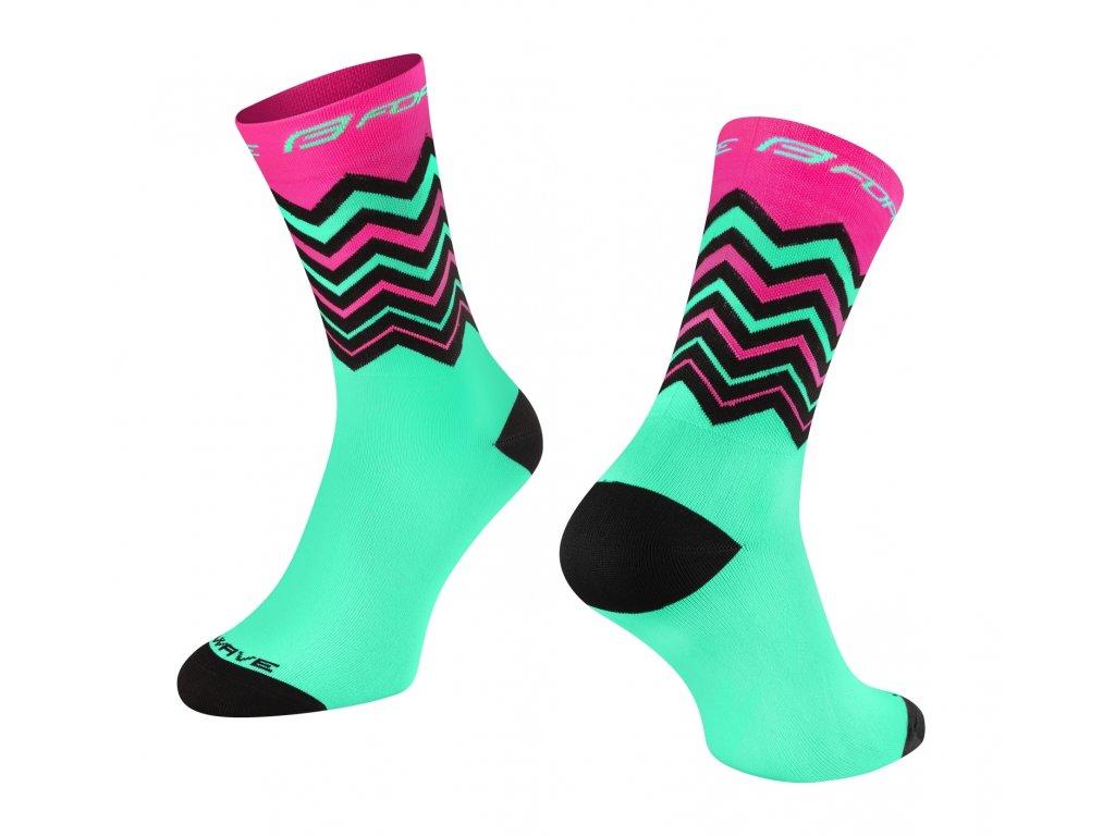 ponožky FORCE WAVE růžovo zelené
