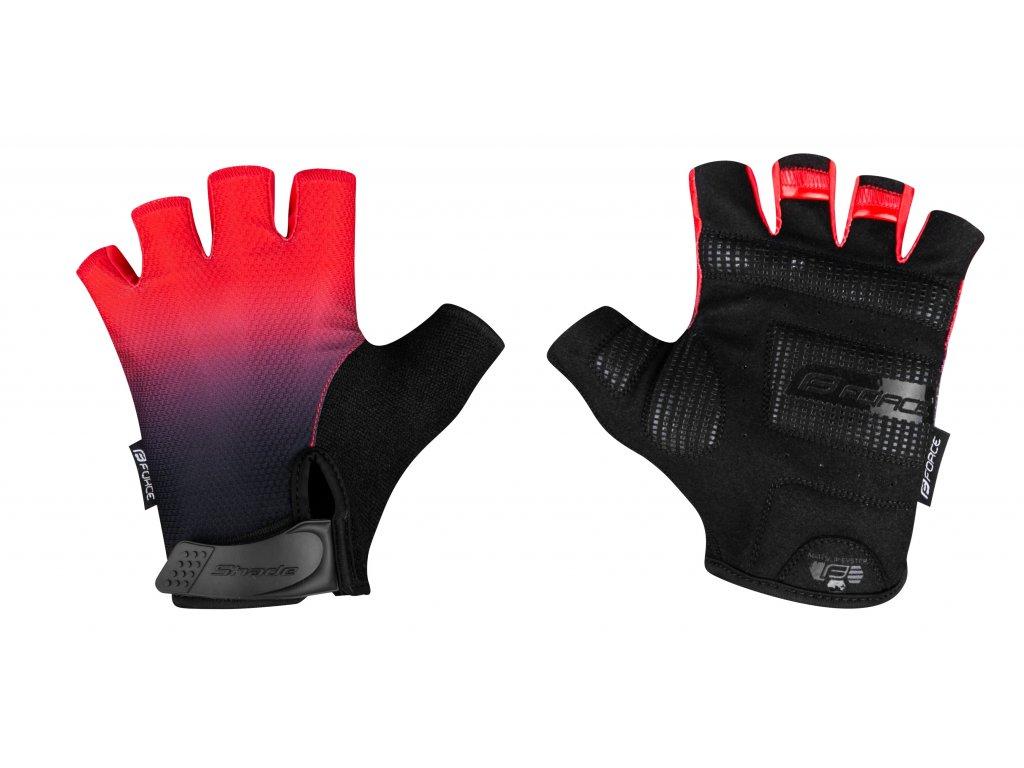 rukavice FORCE SHADE, červené