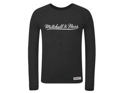 Mitchell & Ness Script Long Sleeve Logo Black