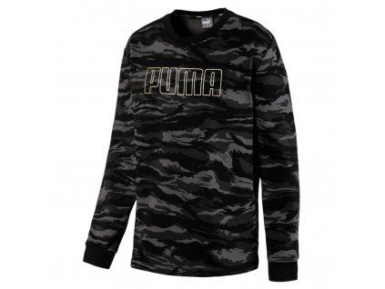 Puma Black Camo Crew Neck