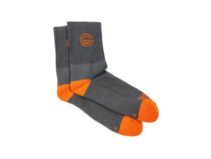 NUGGET SAM LONG SOCKS 3PACK A DARK GREY, ORANGE