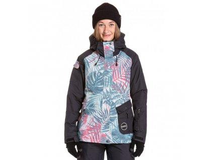Snowboardová bunda Nugget Fiesta Reborn A Black, Palm