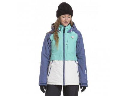 Snowboardová bunda Nugget Trish F Fjord Blue, Mint, Linen White