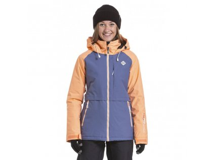 Snowboardová bunda Nugget Trish C Papaya, Fjord Blue