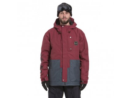 Snowboardová bunda Nugget Falcon D Wine Ripstop, Slate Heather