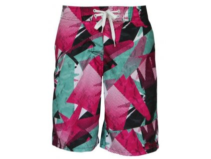 MEATFLY Swimshorts W Green/Pink B (Velikost S)