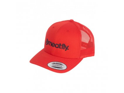 Meatfly Logo Trucker Yupoong D Red