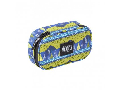 Pouzdro MEATFLY XL Pencil Case 2 C Landscape Green