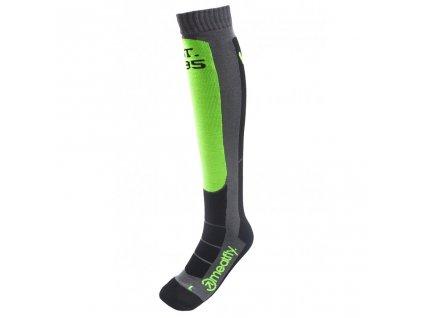 Snowboardové ponožky Meatfly Hooper Safety Green, Grey