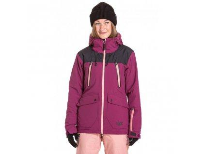 Snowboardová bunda Nugget Phobia 3 A Purple, True Black