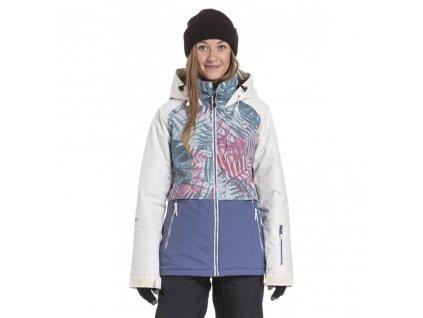 Snowboardová bunda Nugget Trish A Linen White, Palm, Fjord Blue