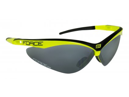 brýle FORCE AIR fluo černé, černá laser skla