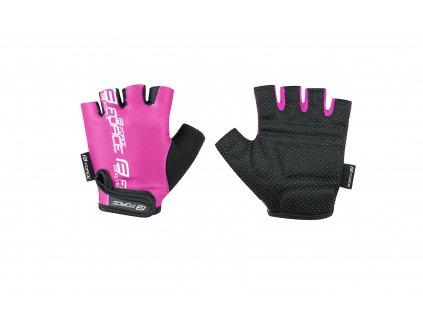 rukavice FORCE KID dětské, růžové