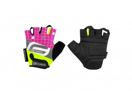 rukavice F SQUARE dětské, fluo růžové