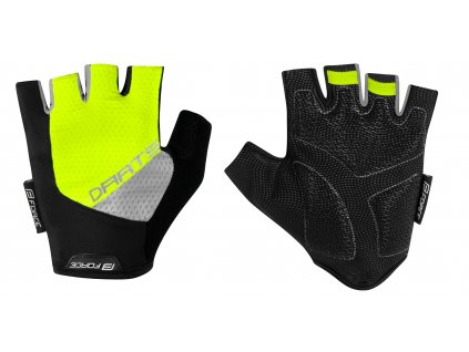 rukavice F DARTS gel bez zapínání,fluo šedé