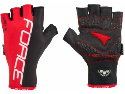 rukavice force dots black red