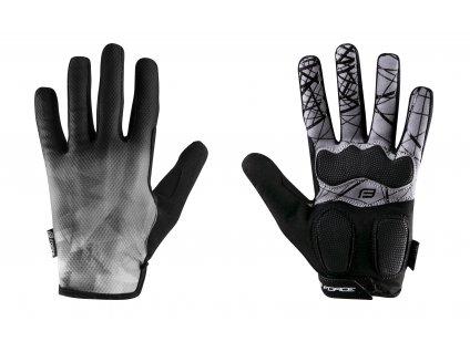 rukavice FORCE MTB CORE letní,šedé