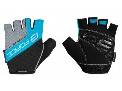 rukavice FORCE RIVAL, černo modré