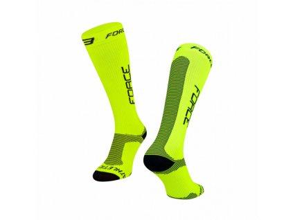 kompresni ponozky force athletic pro kompres fluo černé