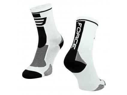 ponožky force long bílo černé