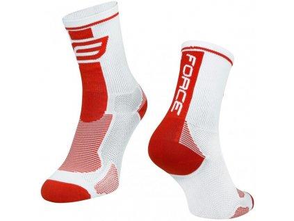 ponožky force long bílo červené