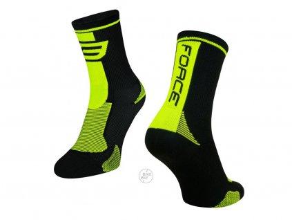 ponožky force long černé fluo