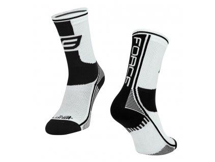 ponožky force long plus bílo černé
