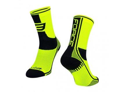 ponožky force long plus fluo černé