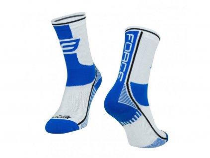 ponožky force long plus modro černo bílé