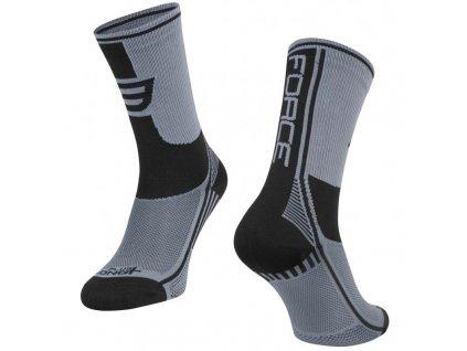ponožky force long plus šedo černé