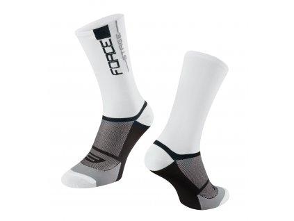 ponožky FORCE STAGE, bílo černé